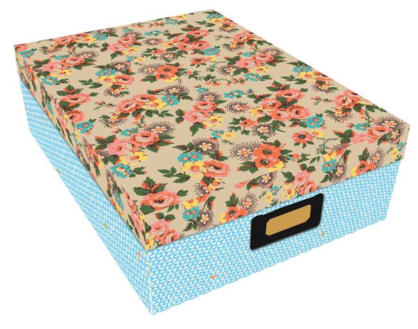 boite de rangement flora vintage boutique c com 39 cha. Black Bedroom Furniture Sets. Home Design Ideas