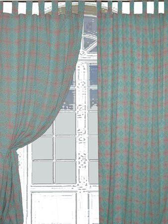 rideau voile turkish bleu ciel corail boutique c com 39 cha. Black Bedroom Furniture Sets. Home Design Ideas