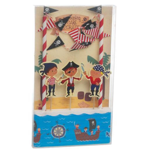 Set de décoration pour gateaux pirates