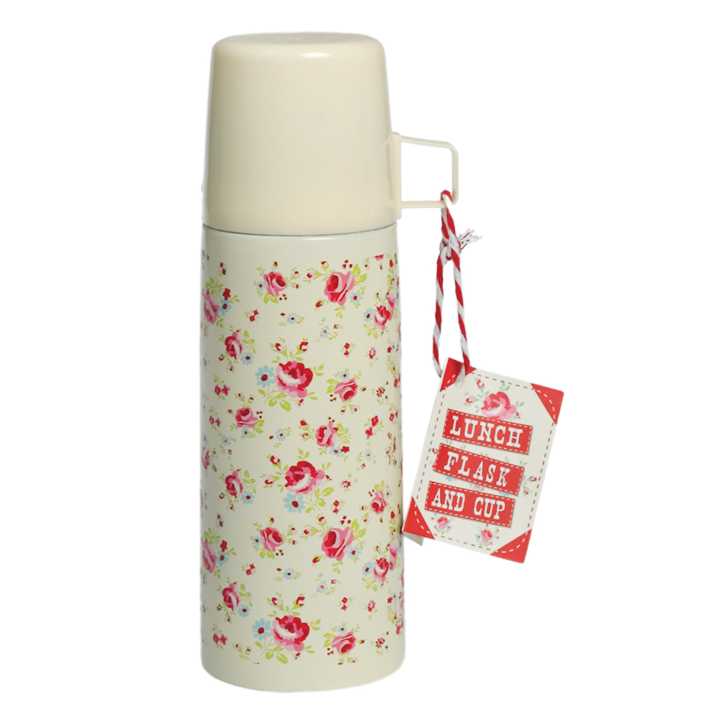 Bouteille thermos petite roses