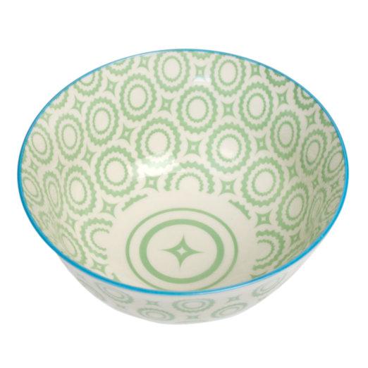 Grand bol japonais cercles vert