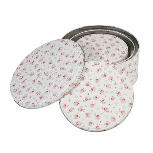Lot de 3 boites à gâteau - Petites roses