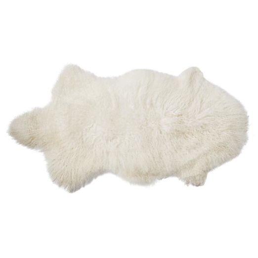 Véritable peau d'agneau de Mongolie
