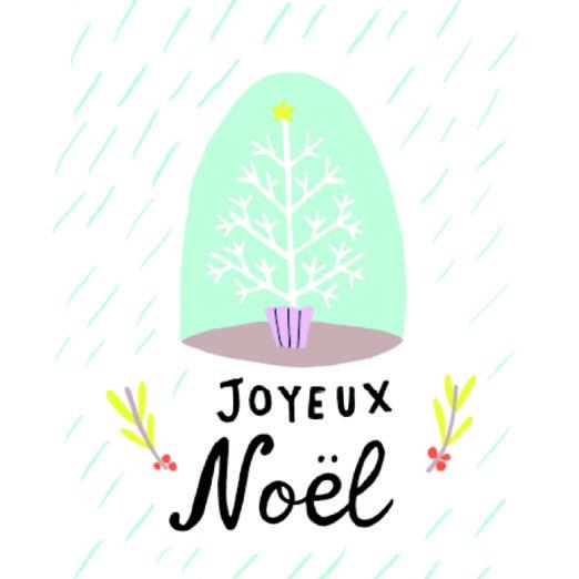 Carte double avec enveloppe - Joyeux Noel