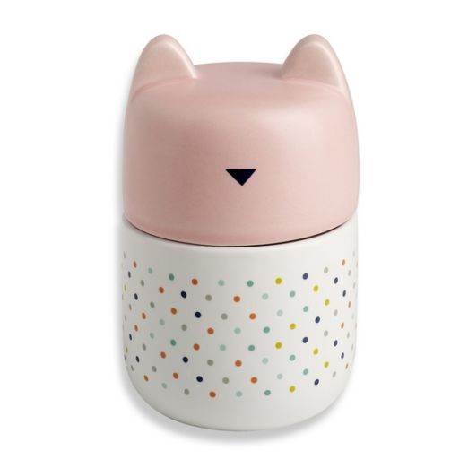 Pot en porcelaine Couvercle Tête de chat Rose