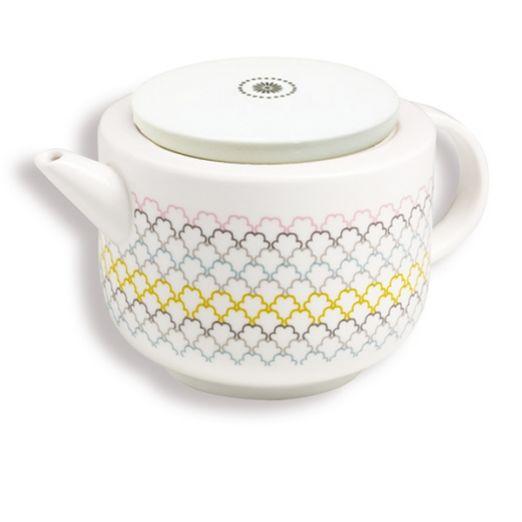 Théière Ecailles (couvercle porcelaine)