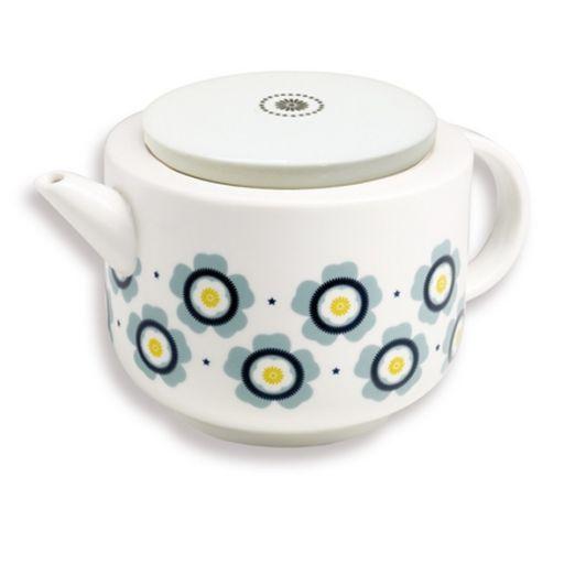 Théière Fleurs bleues (couvercle porcelaine)