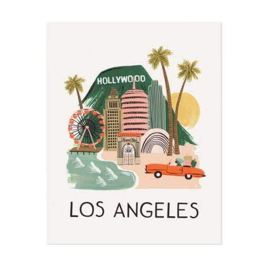 """Affiche sérigraphiée """"Los Angeles"""""""