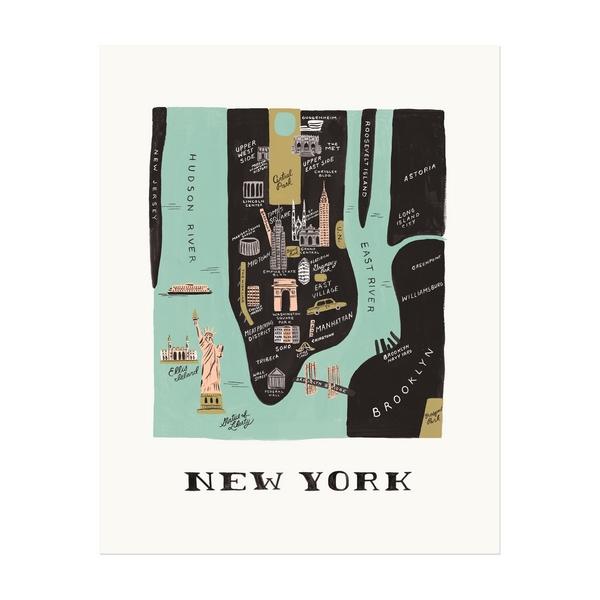 "Affiche sérigraphiée ""New York"""