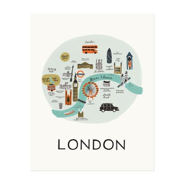 """Affiche sérigraphiée """"Londres"""""""