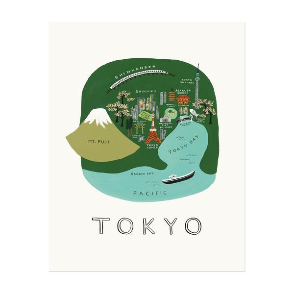 "Affiche sérigraphiée ""Tokyo"""