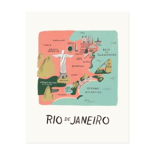 """Affiche sérigraphiée """"Rio de Janeiro"""""""
