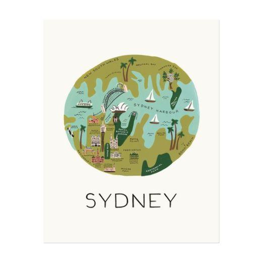 """Affiche sérigraphiée """"Sydney"""""""