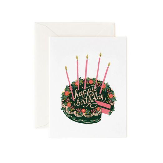 Carte double avec enveloppe - Gâteau