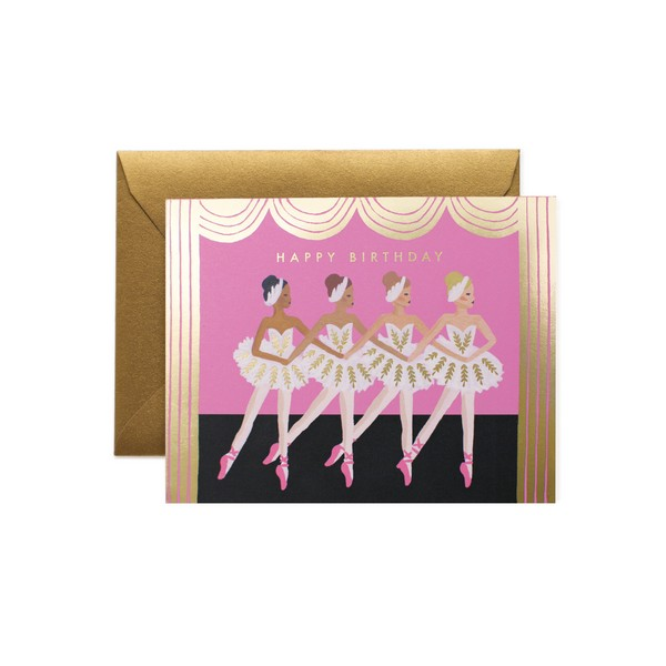 Carte double avec enveloppe - Danseuse