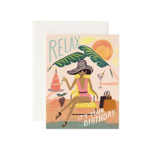 Carte double avec enveloppe - Relax