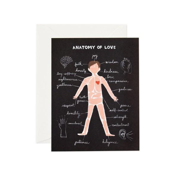 Carte double avec enveloppe - Anatomy of love