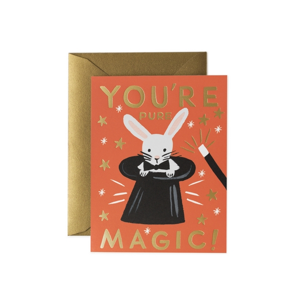 Carte double avec enveloppe - You're pure magic