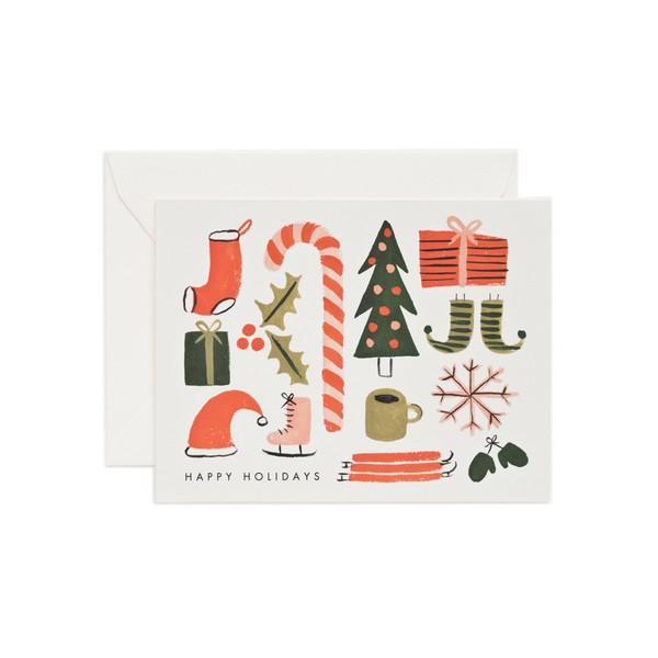 Carte double avec enveloppe - Christmas