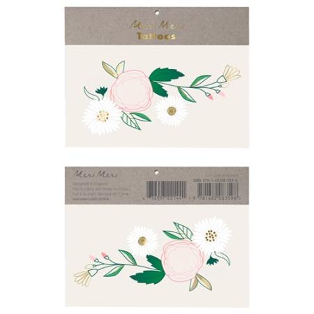 Tatouage Floral Avec Marguerites