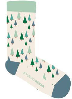 SOCK037 Paire de chaussettes - Forêt de sapins - Taille Unique Adulte - Atomic Soda